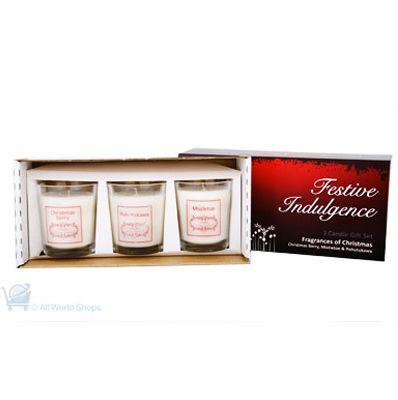 Festive Indulgence Christmas Candles Gift Set - 3 Candles | Shop New Zealand NZ$ 57.90
