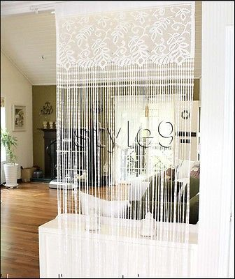 Lace Fringe Panel Doorway Curtain Room Divider