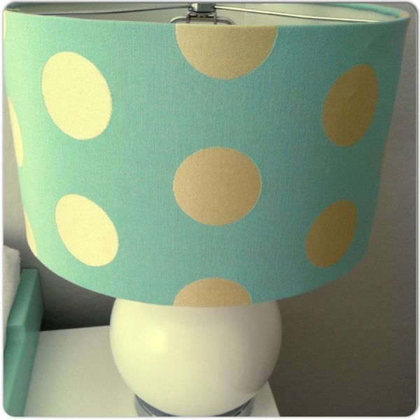 brown and aqua nursery - Love this lamp!