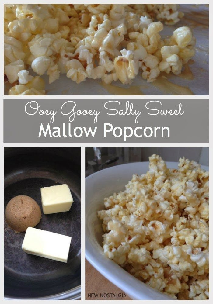 Ooey Gooey Salty Sweet Mallow Popcorn -- perfect snack for a group, young and old love this!