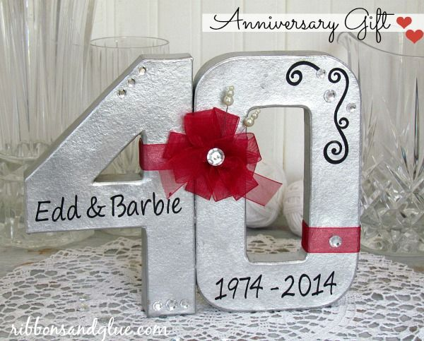 DIY Anniversary Gift Gifts For ParentsAnniversary Ideas40th Wedding