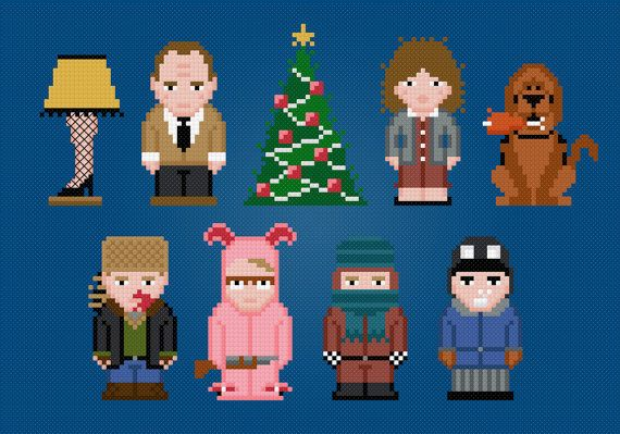 A Christmas Story Movie Characters Digital by AmazingCrossStitch