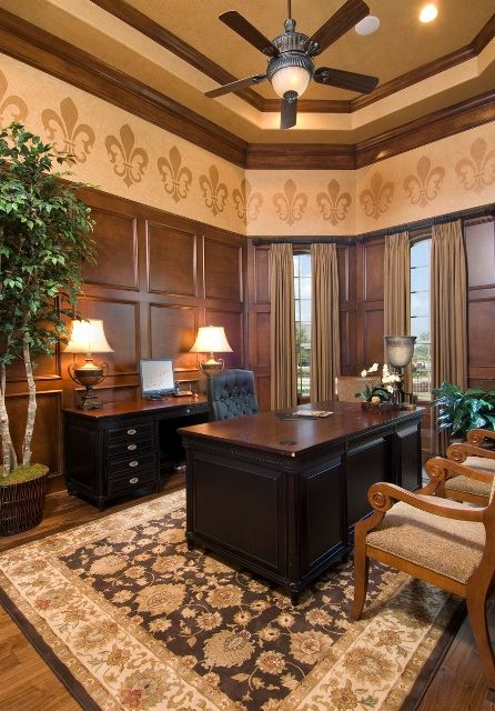 office paneling. custom wood paneling creates a warm homeoffice office e