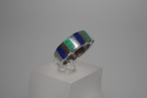Blue and green like the sea. Ring Lapis/Malachite by GemoryPrague, €72.00