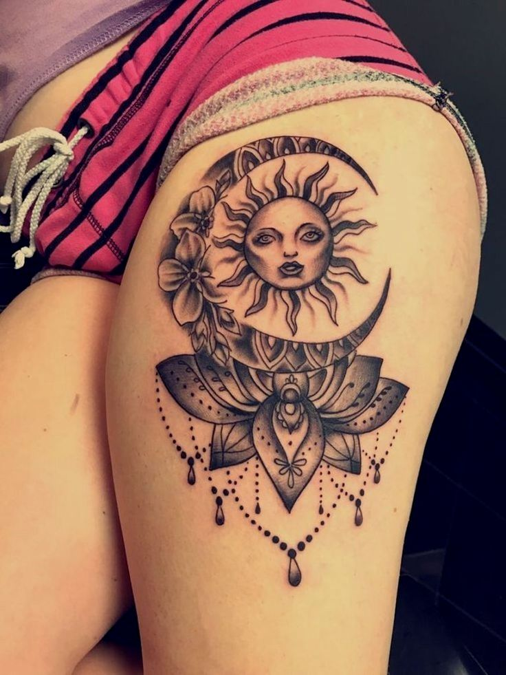 Pin by on Women with tattoos Sun tattoos, Tattoos
