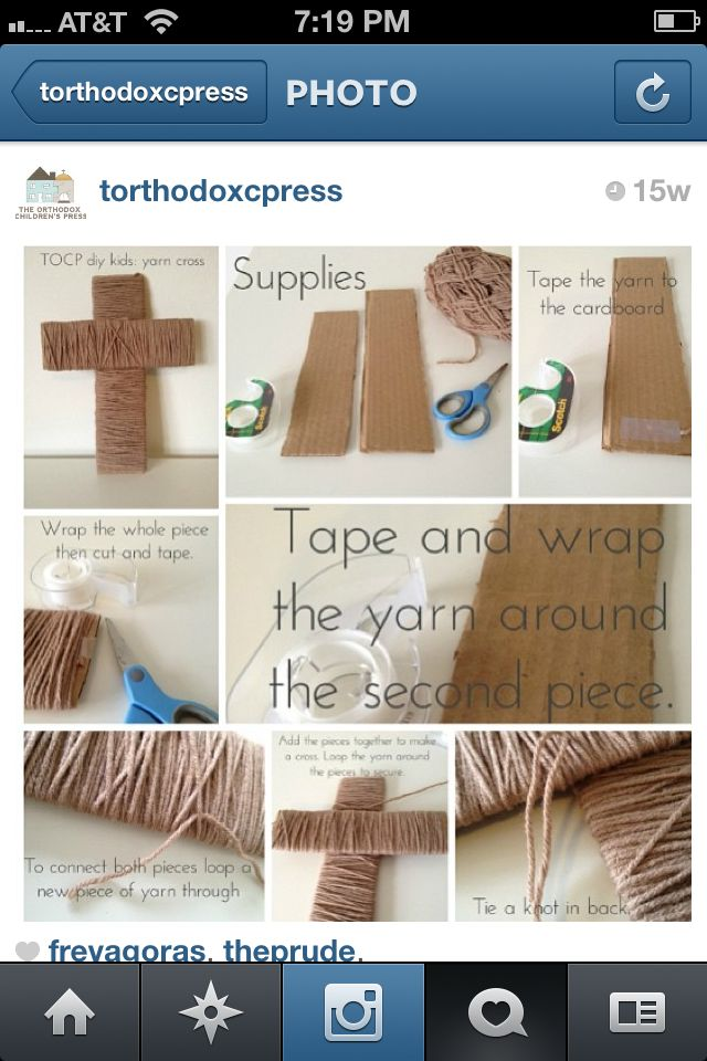 Yarn wrapped cross
