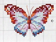 butterflies cross stitch patterns free download - Google Search