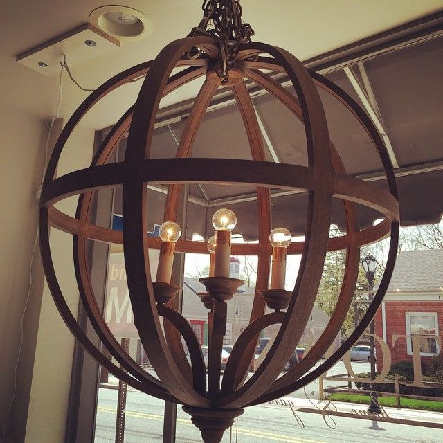 Currey &Company Chestnut Axel Orb Chandelier 40 x 32.  #interiors #interiordesign #curreyandcompany #curryandcompanyorbchandelier #orbchandelier #napastyle #winecountrystyle #chandelier #rusticchandelier