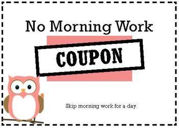Owl Classroom Coupons - Free printable on TpT