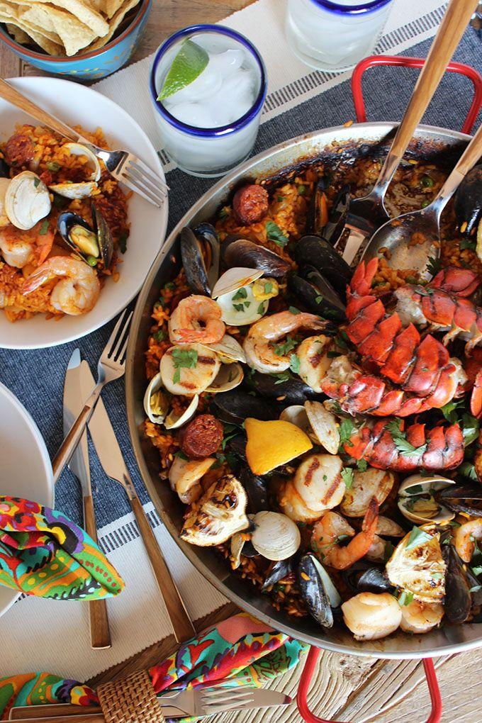 Grilled Seafood Paella | TheSuburbanSoapbox.com