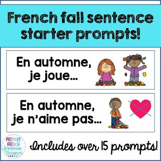 French fall resources - Primary French Immersion Resources. Check out a variety of French resources with fall themed vocabulary! Great for teaching fall vocabulary to Core French and French Immersion students!