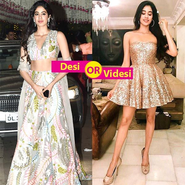 Jhanvi Kapoor in desi look or chic western avatar – which look makes your heart skip a beat? Vote now! #FansnStars