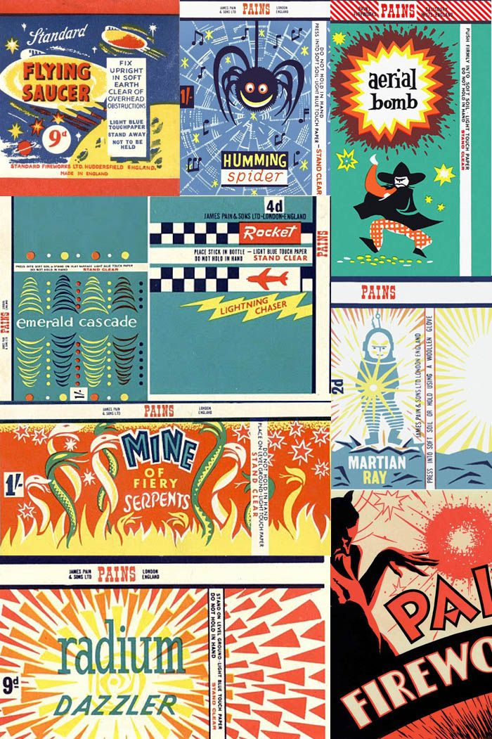 Old Fireworks Packaging Retro Rockets | Old fireworks ...