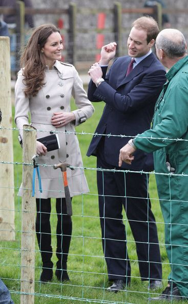 Engaged:  Prince William and Kate Middleton visit Northern Ireland.