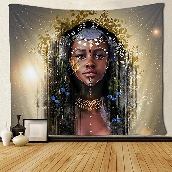 Sara Nell Tapestry Black Girl Afro Girls African American Girl Black Art Tapestries Hippie Art Wall Hanging Th Afro Girl African American Girl Hanging Wall Art