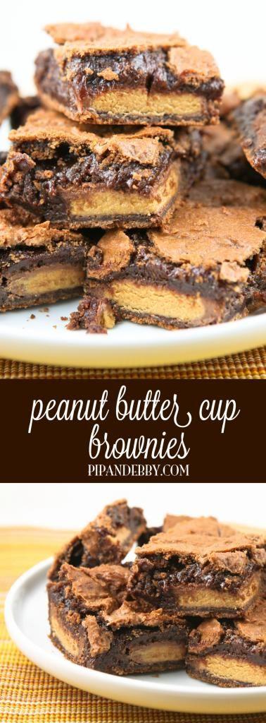 Peanut Butter Cup Brownies - PB cups + brownies = best dessert EVER!