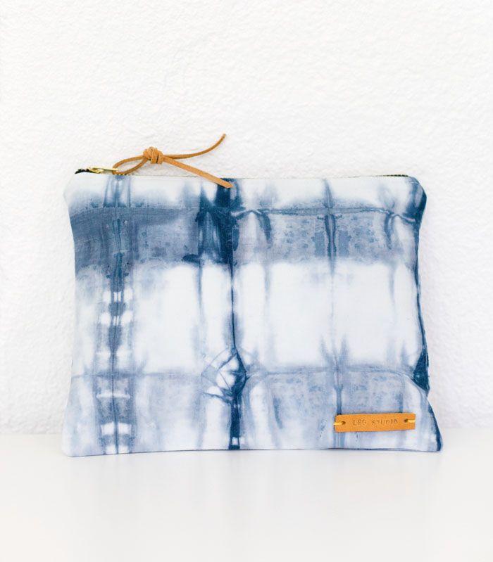 Shibori Tasche - erst färben und dann nähen.