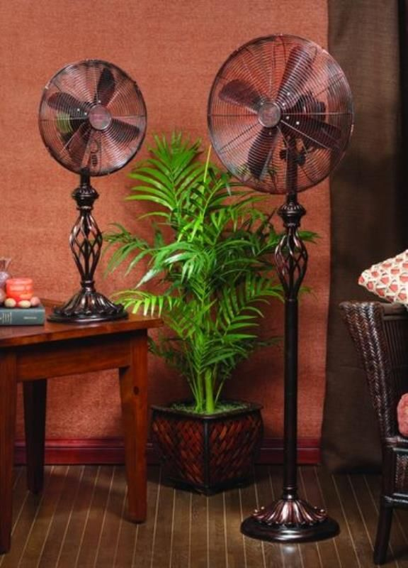 Floor Fan Tall Table Fan TallClassic Decorative Flourishes This Solid Metal  Construction With Low Speed Is 900 RPM, The Medium Speed Is 1100 RPM, ...