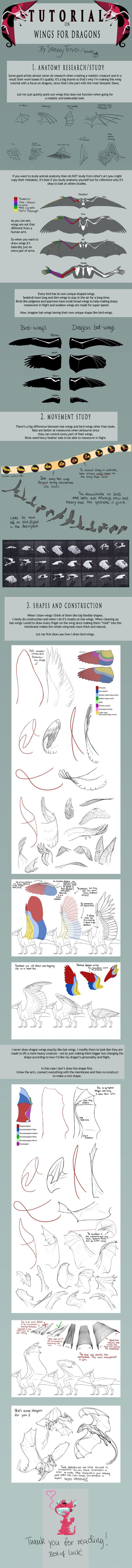 TUTORIAL: Wings for Dragons by SammyTorres on deviantART