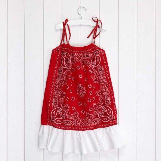 Een jurk van bandana's