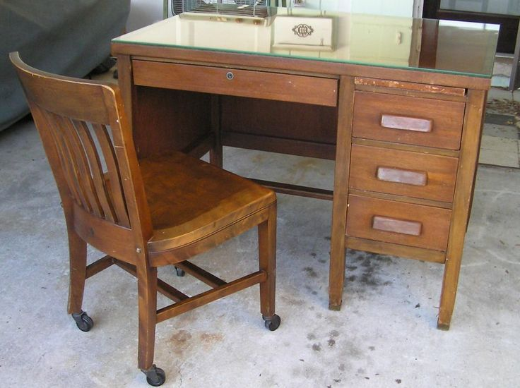 Mid Century Vintage Alma Solid Wood Desk With Sikes Co