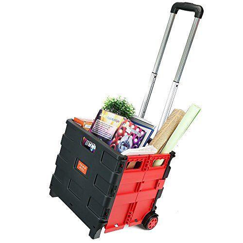From 14.99 Ogori 25kg Folding Shopping Trolley Storage Boot Cart Box Crate Car Van Camping