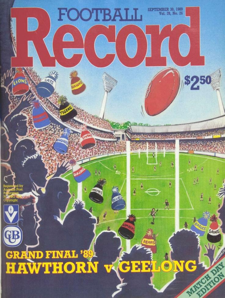 Hawthorn vs Geelong: Grand Final Football Record 1989