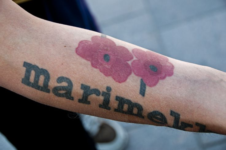 would love a marimekko tattoo; maybe not quite like this