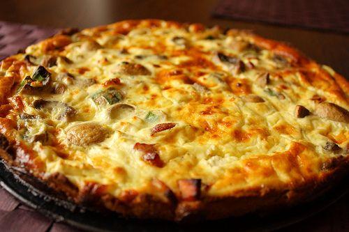Rețetă quiche cu bacon, ciuperci si brânză - Blog Culinar
