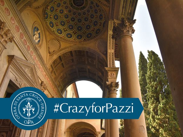 Brunelleschi's Pazzi Chapel is a masterpiece of Renaissance architecture in Florence, Italy. Its loggia requires urgent restoration. Click (and share!) this photo to support #CrazyforPazzi on Kickstarter!