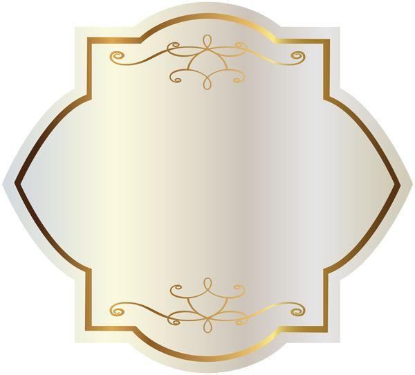Gold ribbon banner transparent background clipart - 322 Best Images About Background Amp Labels On Pinterest