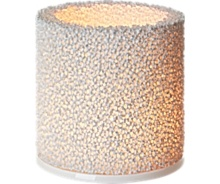 Fire Candle holder 11 cm White