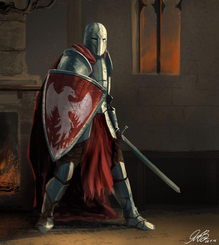 Commission Knight Painting by Entar0178.deviantart.com on @DeviantArt