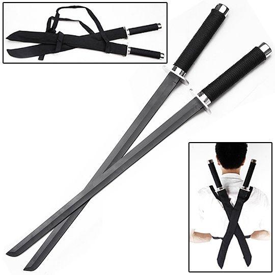Ninja Strike Force Twin Sword Set w/ Backstrap 18 1/2 inch blade - 25 1/2 in overall