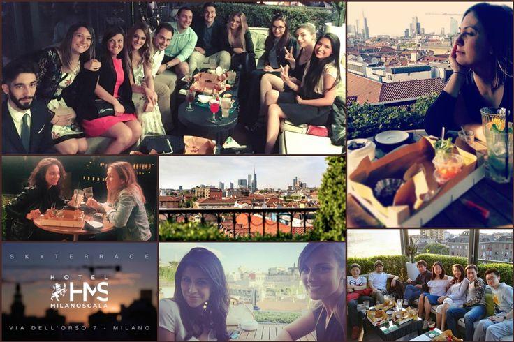 Facce da Sky Terrace Bar Milano Scala! Amazing #milanoscala #apertitif #happyhour #milan #italy #skyterrace