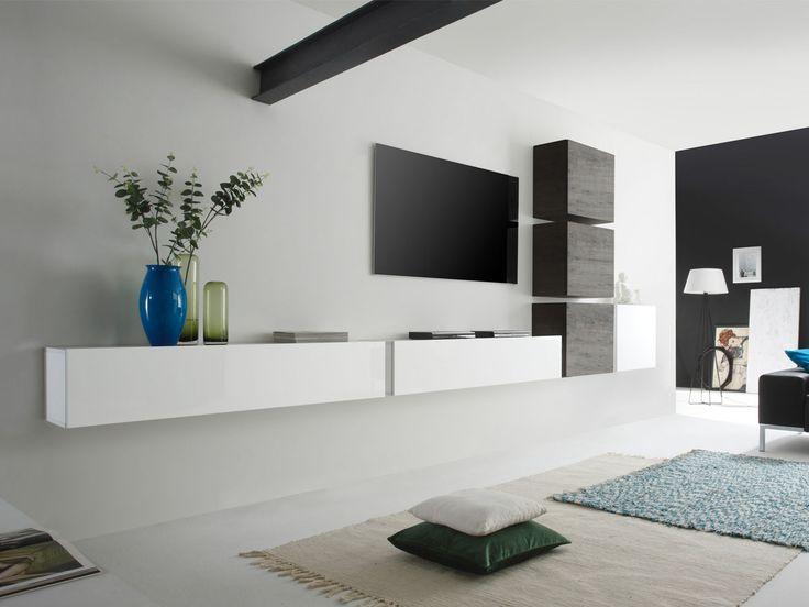 oltre 1000 idee su wohnwand weiss su pinterest   wohnwand braun, Wohnzimmer dekoo