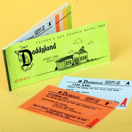 Daddyland Coupon Book from Spoonful