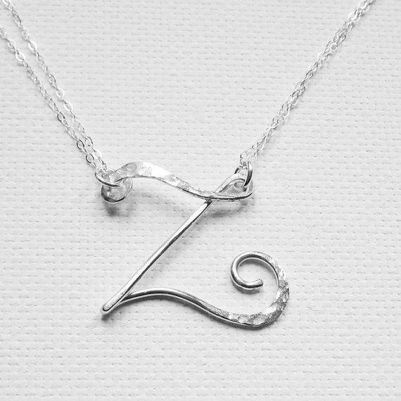 Personalized Necklace Letter Z Necklace by BelleAtelierJewelry