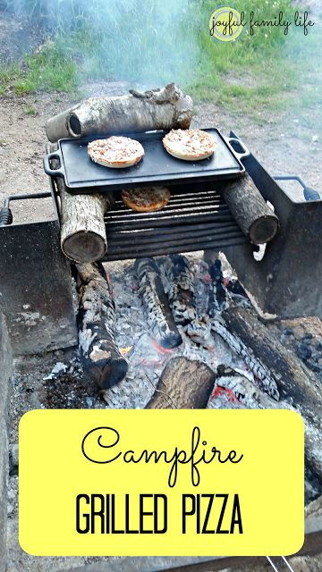 Want to try some new campfire foods? Try cooking pizza over the fire for your next camp out dinner. See more tips for camping with kids at the link, all from the Joyful Family Life blog.