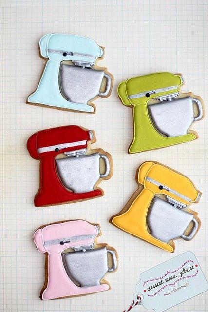 KitchenAid Mixer Cookies... who makes this cookie cutter???Kitchenaid Mixer, Kitchen Aid Mixer, Kitchens Aid Mixer, Mixer Cookies, Decorated Cookies, Bridal Shower, Aid Cookies, Cookie Cutters, Cookies Decorated