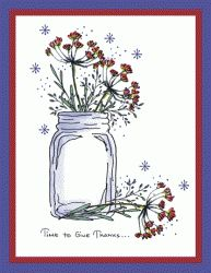 Dill Jar Card - To see more ideas and order Stamps by Judith & Heather go to www.stampsbyjudith.com
