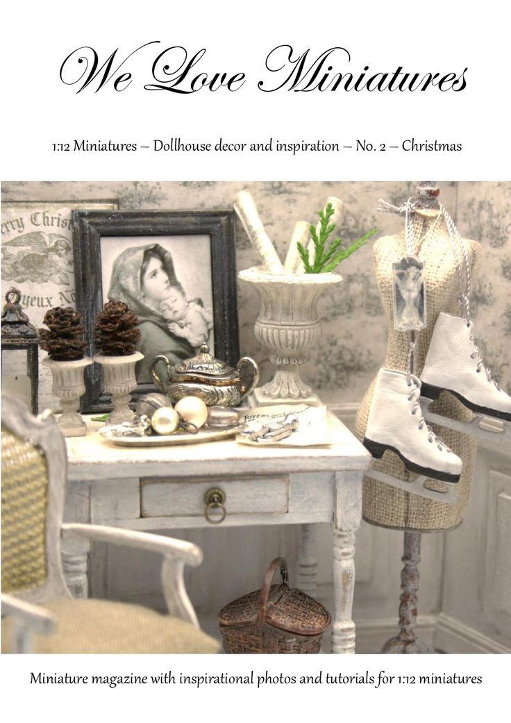 Weloveminiatures 2 christmas miniatures dollhouses for Home decor accents holiday decorations accessories