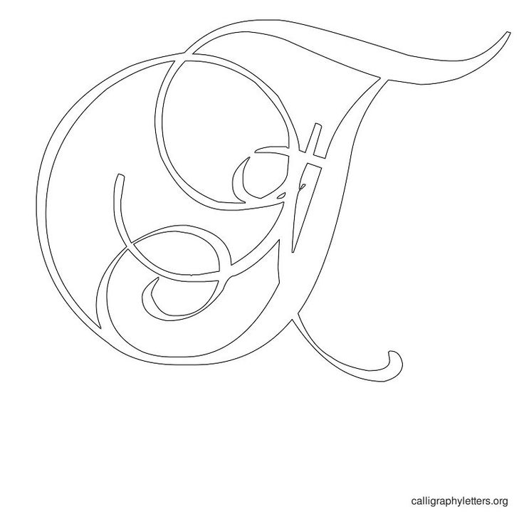 Calligraphy letter stencil t embroidery pinterest