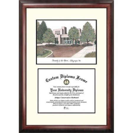 University of New Mexico 8.5 inch x 11 inch Legacy Scholar Diploma Frame, Multicolor