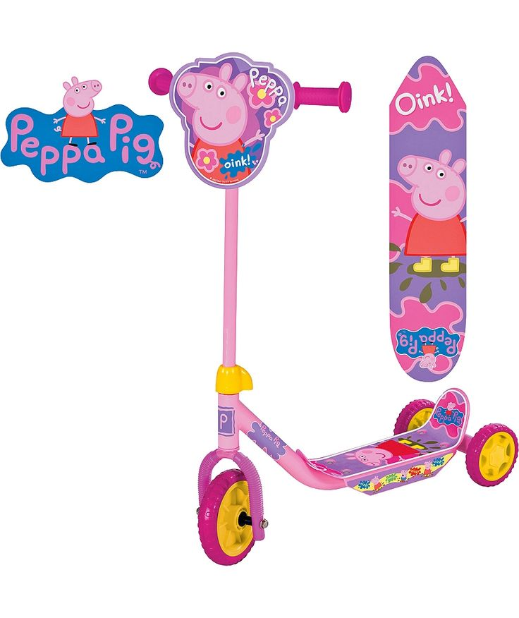Buy Peppa Pig My First Tri-Scooter - Pink at Argos.co.uk - Your Online Shop for 2 for 30 pounds on Toys, Scooters.