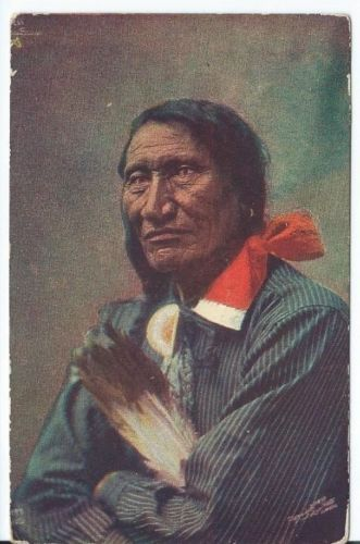 Vintage-Postcard-Rocky-Bear-Native-American-The-Omaha-News-Co