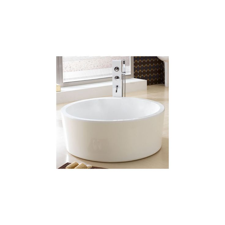 59 Dana Round Acrylic Soaking Tub Best Tubs And