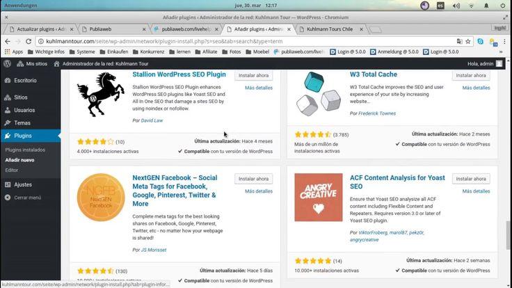 Instalar plugin anadido en Wordpress