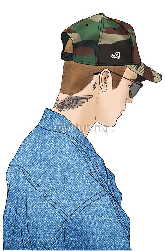 « Justin Bieber Drawing » par Outlyning Designs