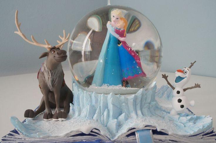 DISNEY FROZEN QUEENS ELSA ROSE-ANNA WONDERS WITHIN AN ACT OF SISTERLY TRUE LOVE MUSICAL SNOW GLOBE #DisneyHallmark
